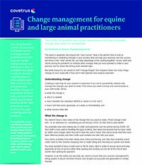 Change management for equine and large animal practitioners